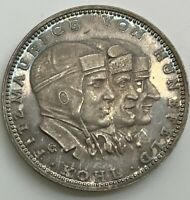 1928 BREMEN FLIGHT MEDAL GEM PL TONED 900 SILVER PRUSSIAN STATE MINT KAISER 927