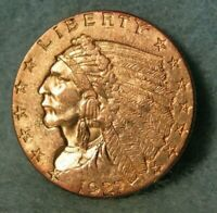 1927 INDIAN HEAD QUARTER EAGLE $2.50 UNITED STATES GOLD COIN