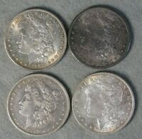4 PIECE MORGAN SILVER DOLLAR UNITED STATES COIN LOT 1882 S