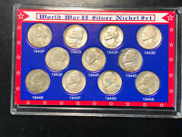 HIGHER GRADE SET OF ALL 11 JEFFERSON SILVER WAR NICKELS WITH