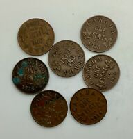 CANADA 1926  GEORGE V  SEMI KEY DATE LOT OF 7 SMALL CENTS SET BUILDER