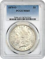 1879-O $1 PCGS MINT STATE 65 - SATINY GEM - MORGAN SILVER DOLLAR - SATINY GEM