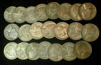 22 COIN LOT OF THE WAR TIME SILVER JEFFERSON NICKELS   C022
