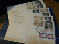 6 ARGENTINA AIR MAIL ENVELOPES W/ JOHN F. KENNEDY STAMPS 196