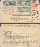 USA 1928   ZEPPELIN FLIGHT AIR MAIL STATIONERY TO GERMANY V9