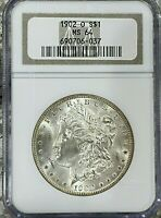 1902-O MORGAN SILVER DOLLAR - CERTIFIED/GRADED BY NGC MINT STATE 64 - R COIN