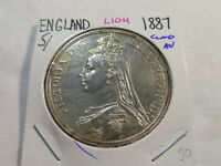 L104 GREAT BRITAIN 1887 CROWN CLEANED AU