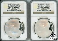 LOT OF 2: 2015 UK DEATH OF CHURCHILL .925 SILVER PROOF COIN