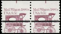 EFO 1903 VAR. MAIL WAGON 1880'S MISCUT PAIR WITH ONLY 1 PREC