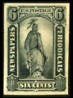 PR12P4 NEWSPAPER PROOF 6C STATUE OF FREEDOM ON CARD MH SEE P