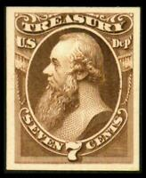 O76P4 PROOF STATE DEPT 7C EDWIN STANTON ON CARD NH SEE PHOTO