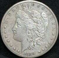 1889 CC MORGAN SILVER DOLLAR EXTRA FINE  DETAILS KEY DATE  CARSON CITY MINT COIN