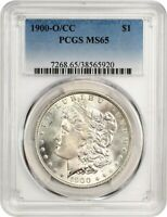 1900-O/CC $1 PCGS MINT STATE 65 -  OVER-MINTMARK VARIETY - MORGAN SILVER DOLLAR