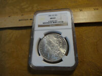 1881-CC UNITED STATES MORGAN SILVER DOLLAR $1 NGC MINT STATE 63 - FREE S&H USA