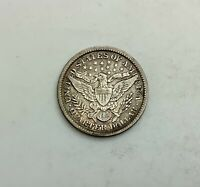1892 BARBER  QUARTER SHARP MID  GRADE COIN FULL LIBERTY  ORIGINAL LOOK