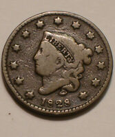 1828 CORONET HEAD LARGE CENT STRONG DETAIL