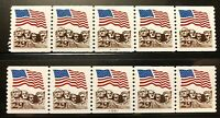 US 2523A  PNC5 PL A11111 A22211 29C. FLAG/RUSHMORE COIL MNH