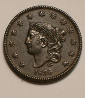 1835 CORONET HEAD LARGE CENT SHARP FULL DETAIL