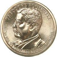 2013 D PRESIDENTIAL DOLLAR THEODORE ROOSEVELT CHOICE BU CLAD US COIN