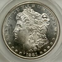 1881 S PROOFLIKE MORGAN VAM54B HITLIST 40  WOUNDED EAGLE ANACS MINT STATE 64 OBV PL