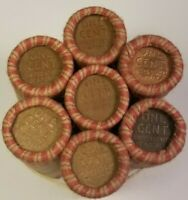 1909 1958 WHEAT PENNY LINCOLN CENT ROLL P D S 50 COINS