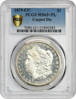 1879-CC $1 PCGS MINT STATE 63 PL CAPPED DIE KEY CC-ISSUE - MORGAN SILVER DOLLAR