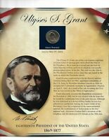 ULYSSES S. GRANT 18TH PRESIDENT OF THE UNITED STATE 1869-1877 DOLLAR & STAMP SET