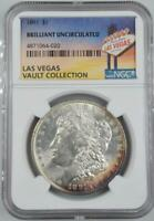 1891 MORGAN DOLLAR NGC BRILLIANT UNC  LAS VEGAS VAULT COLLECTION HOME OF BINION