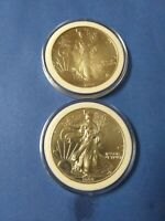 1994 AND 1999 AMERICAN SILVER EAGLE DOLLARS LOT OF 2 FINE SILVER CIRCULATED