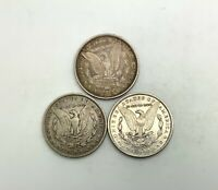 1879 O 1880 O  & 1882 O SILVER DOLLARS DECENT GRADE LOT 3 COINS NEW ORLEANS