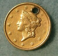 1851 LIBERTY HEAD $1 ONE DOLLAR UNITED STATES GOLD COIN BETT