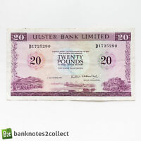 NORTHERN IRELAND: 1 X 20 POUND ULSTER BANK BANKNOTE. DATED 0