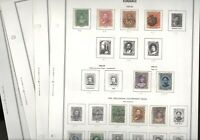 HAWAII ASSORTMENT OF USED STAMPS HINGED ON HARRIS PAGES