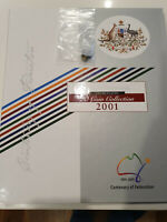 2001 AUSTRALIA STATE COLLECTION: 50CT & 20CT  IN UNC