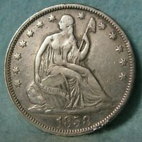 1858 SEATED LIBERTY SILVER HALF DOLLAR BETTER GRADE UNITED S