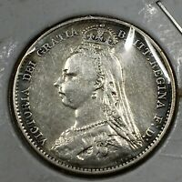 1892 GREAT BRITAIN 6 PENCE KM 760 XF CLEANED NICE BRIGHT SIL