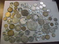 MIXED FOREIGN WORLD SILVER COINS  467  GRAMS SILVER LOT  SOM