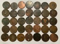 1802 1807 1840 DRAPED BUST CORONET LARGE CENT LOT CULLS HOLE