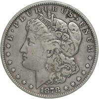 1878 MORGAN SILVER DOLLAR 7 TAIL FEATHERS REVERSE OF 79 EXTRA FINE EXTRA FINE