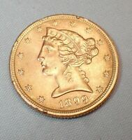 1899 $5 LIBERTY GOLD HALF EAGLE COIN FROM PRIVATE COLLECTION
