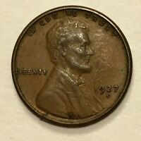 1927 S 1C LINCOLN WHEAT CENT OFF METAL  CRACKED/DIME?  PLANCHET ERROR COIN
