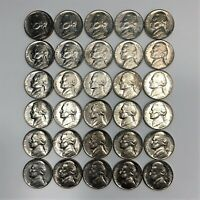30 COIN LOT 1939 US JEFFERSON NICKELS ALL HIGH END