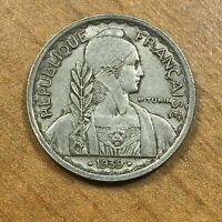 .1939. A  FRENCH INDOCHINA 10 CENTS COPPER NICKEL KM 21.2 DATE BETWEEN 2 DOTS