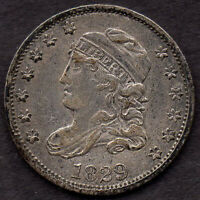 1829 CAPPED BUST HALF DIME, LM-14, R-4, EXTRA FINE  1