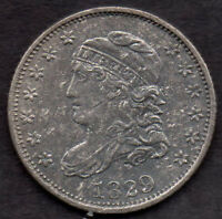 1829 CAPPED BUST HALF DIME, LM-14, R-4, EXTRA FINE  2