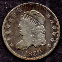 1830 CAPPED BUST HALF DIME, LM-2, R-3, VG