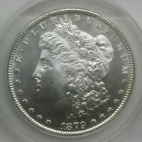 1879 S SILVER DOLLAR MS 63 PROOFLIKE ANACS ORIGINAL COIN BLAST WHITE GORGEOUS