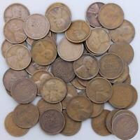 1929 D LINCOLN WHEAT CENT ROLL 50 CIRCULATED PENNIES US COINS