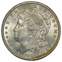 1904-O $1 MORGAN SILVER DOLLAR - ORIGINAL TONING - BETTER DATE - UNC - SKU-D1438