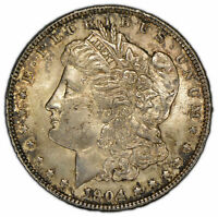 1904-O $1 MORGAN SILVER DOLLAR - ORIGINAL TONING - BETTER DATE - UNC - SKU-D1431